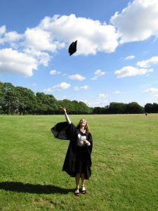 Throwing my Graduation Cap in Victoria Park