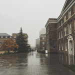 The University of Leicester on a rainy November afternoon.