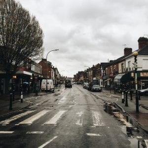 Queens Road: the main street for shopping in Clarendon Park