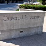 "The famous cement block on which many people have taken a ""first day at Queen's"" and ""last day at Queen's"" to commemorate their time at the university."
