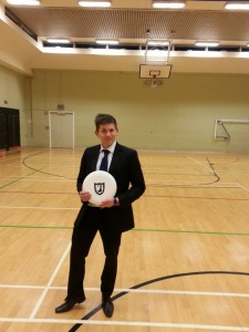 I did have my kit with me - but couldn't pass up the opportunity to play some frisbee in a suit!