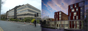 Left - Maurice Shock Building Right - £42 million worth of environmentally friendly medical school