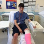I may look miserable but I was actually just trying to convince my Mum I broke a leg. It didn't work but I tried.