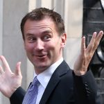 0223a RH 151271128, Byline: Rosie Hallam, Downloaded: 2012/09/04 10:19:00+0100, Shot: 2012/09/04 10:11:55+0100 LONDON, ENGLAND - SEPTEMBER 04: Jeremy Hunt arrives at 10 Downing Street on the day Prime Minister David Cameron announces a government reshuffle. On September 4, 2012 in London, England. (Photo by Rosie Hallam/Getty Images)