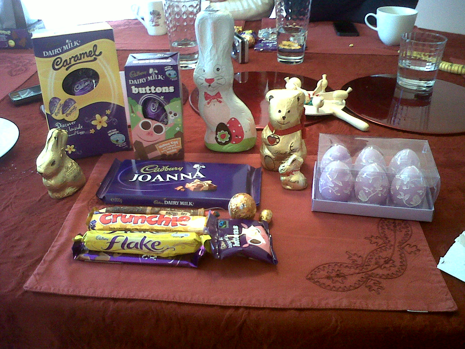 Chocolate galore and some egg shaped candles!
