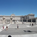 The Palacio Real, Spain's equivalent of Buckingham Palace!