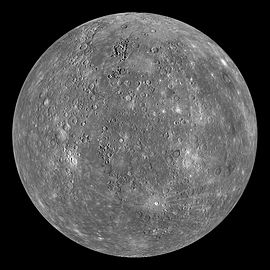 A composite image of Mercury taken by NASA's MESSENGER mission. The only other spacecraft to visit Mercury so far was NASA's Mariner 10.