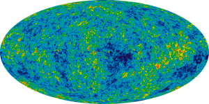 WMAP image of the universe taken in the microwave region of the electromagnetic spectrum.