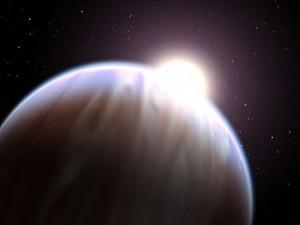 Artistic impression of a hot Jupiter.