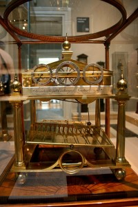 In case my description made no sense at all, here is a picture of the Congreve Clock.