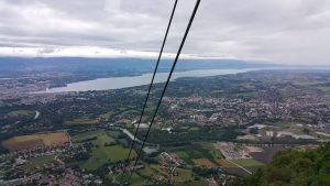 View of Geneva from cable car.