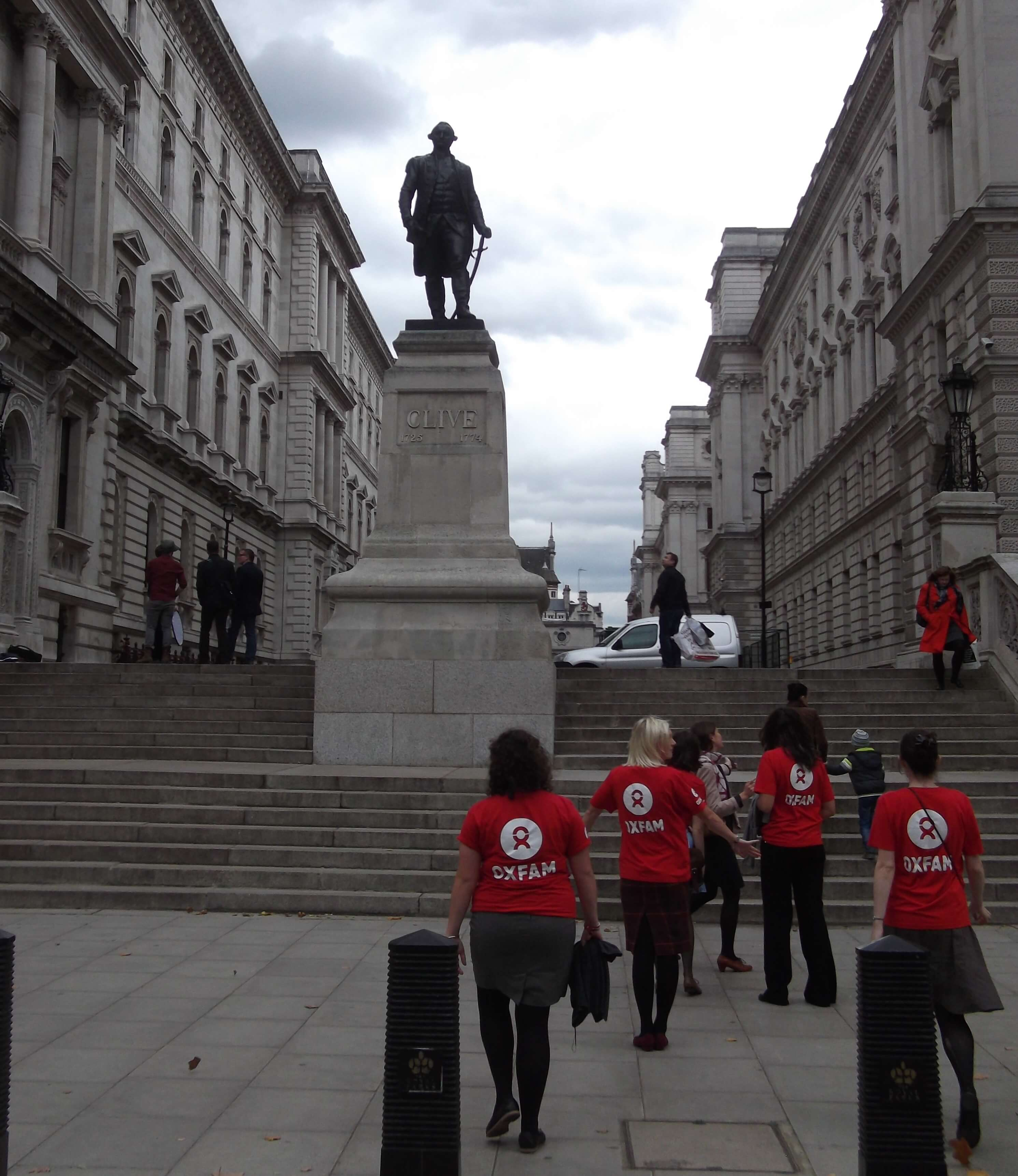 Entrance to Whitehall - Treasury (Right) & Foreign Office (Left)