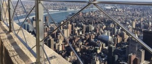 View from the top of the Empire State Building in NY.