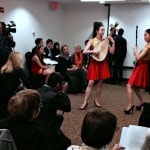 Performers singing and dancing at the James Jay Dudley Luce Foundation award ceremony in NYC.
