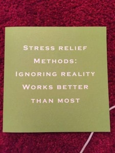 stress relief method