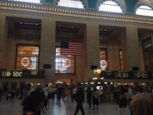 American flag in Grand Central Terminal, NYC ??❤️