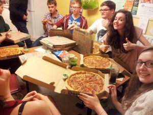 Pizza night (this happened a lot)