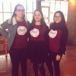 Katie, Fern and myself rocking cool t-shirts and promoting Fern's campaign  to become the next Women's Officer!