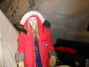 Wrapped up warm ready to face any Antarctic storm coming my way!
