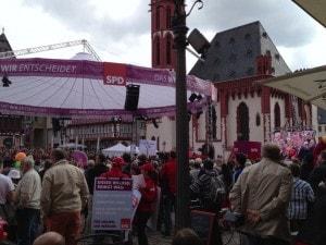 Steinbrück at a public rally