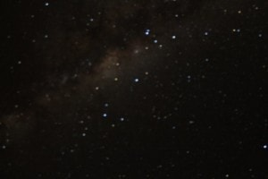 My camera was rubbish at trying to take a picture of the Milky Way but my friend managed to get a pretty good shot..