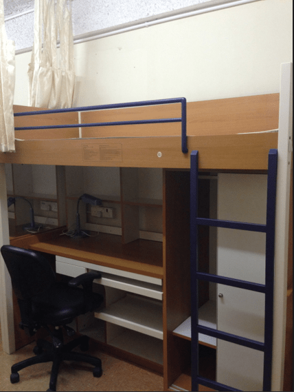 One of the two bunk beds in our tiny bedroom