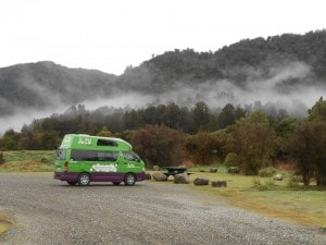 The Mystery Machine in all its glory... can even see where the 'land of the long white cloud' gets it name from.