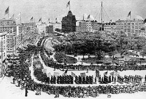 Labor Day Parade, Union Square, New York, 1882