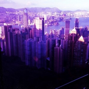 The view going up the Victoria Peak, and to think that this is where I live...