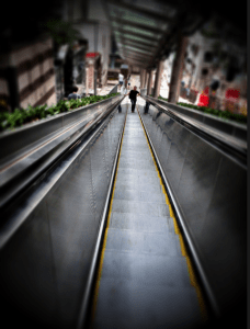 Being so hilly, these escalators come in handy. This is just one of the many escalators located throughout Hong Kong. Obviously, stairs are always an option but I believe the choice is obvious