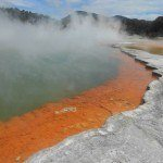 Champagne Pool - steam, bubbles and insane orangeness!