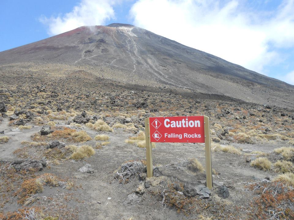 Several cakes and a good few hours later, we finally reached the base. If you look really closely, in the redder area on the volcano, you might just be able to make some steam (although the cloud is a bit in the way)