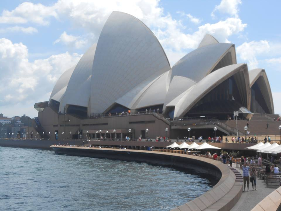 Sydney Opera  - so much glass, so many triangular shapes and a enough tourists to f