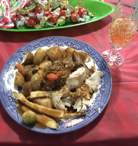 The scrumptious christmas lunch