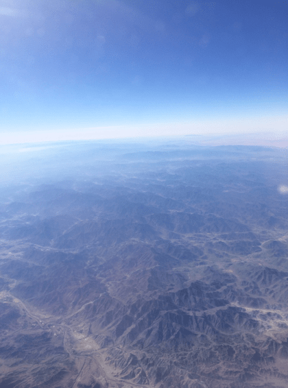 The incredible views from the plane in Dubai