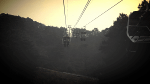 Riding chair lifts up to the wall