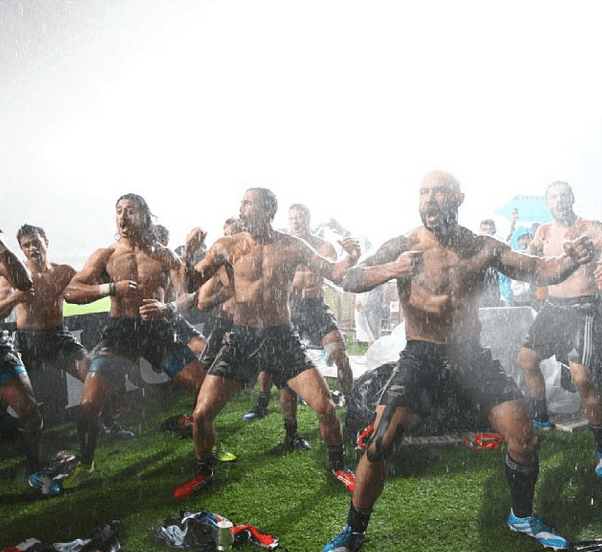New Zealand Rugby Team's haka performance