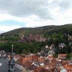 Heidelberg Castle in the distance.