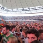Crowds at the Commerzbank arena