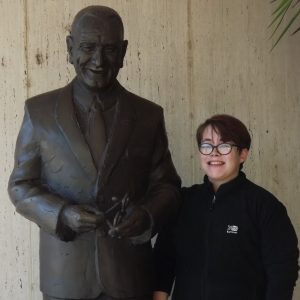 At the LBJ Presidential Library and Museum in Austin, TX