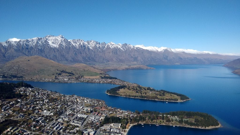 Queenstown with The Remarkables behind. I think it's quite an apt name for them!