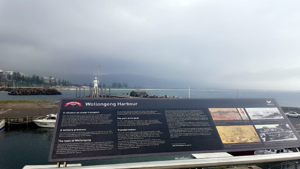 A picture of the Wollongong Harbour before it started raining
