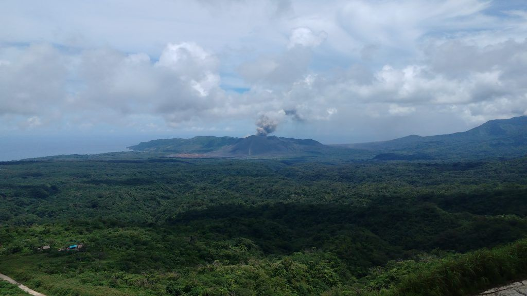 The first view of the volcano