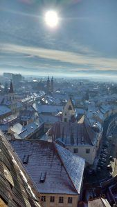 View from the Sibiu Lutheran Church's Tower