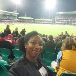 Me at the AFL match